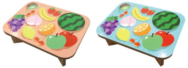 強化ダンボールテーブル#table フルーツ