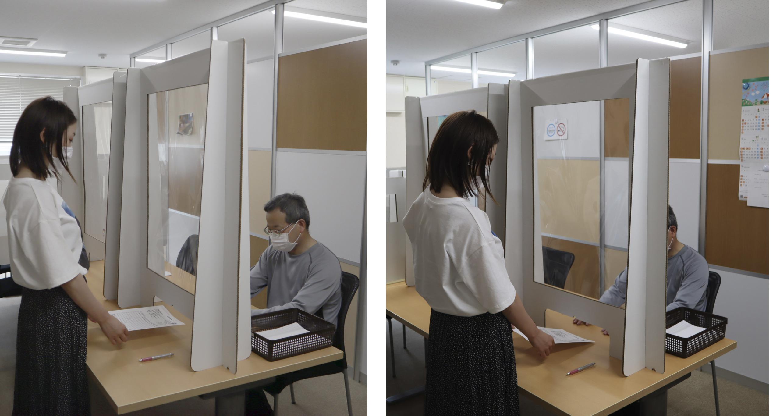 タワー型パーテーションの写真 選挙の際のパーテーション